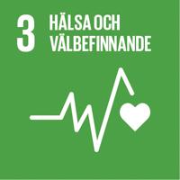 FN:s globala mål grön ikon nummer 3 Hälsa och välbefinnande