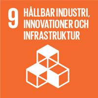 FN:s globala mål orange ikon nummer 9 Hållbar industri och infrastruktur