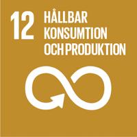 FN:s globala mål senapsgul ikon nummer 12