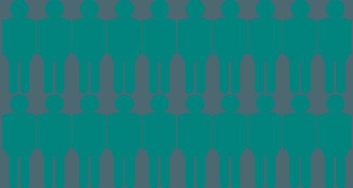illustration gröna gubbar på två rader