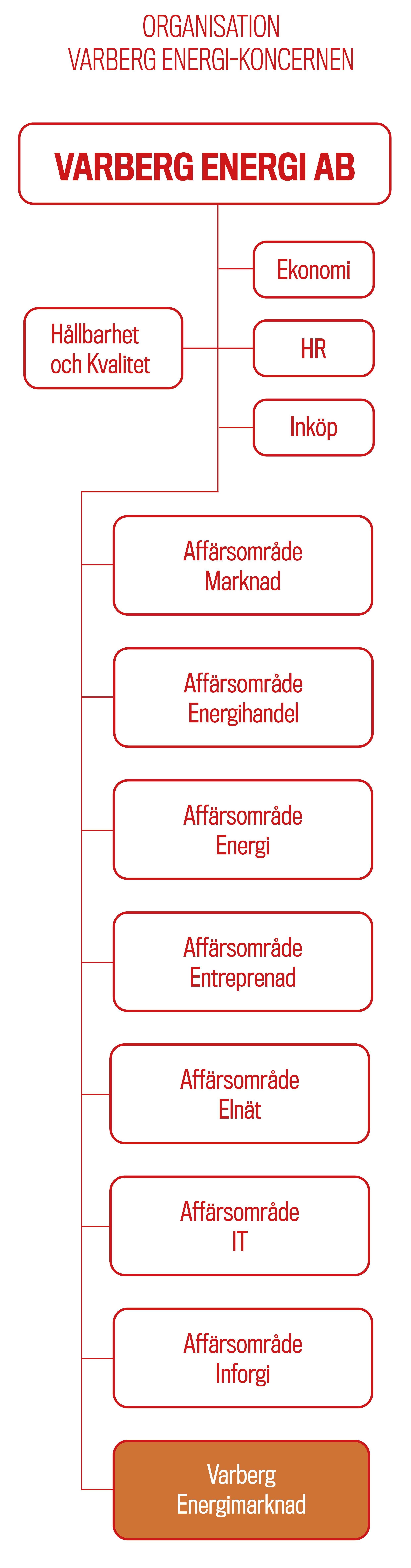 Illustrtion vårt organisationsschema