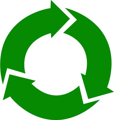 illustration gröna cirkulationspilar i cirkel
